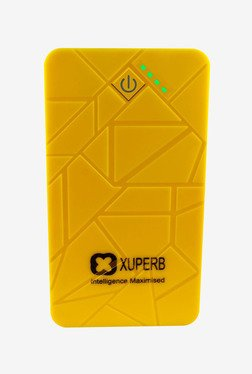 Xuperb Polymer Slate-50 5000 mAh Power Bank (Yellow)