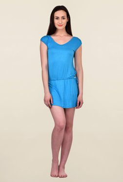 N-Gal Blue Textured Beachwear