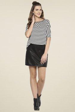 Femella Black & White Striped Top