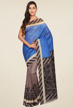 Pavecha Blue Floral Saree - Mp000000001065859