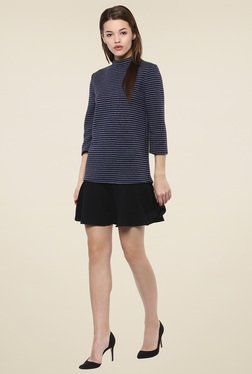 Femella Navy Striped Mini Dress