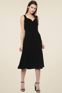Femella Black Sleeveless Midi Dress