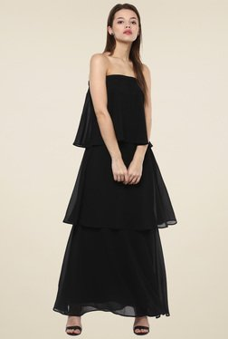 Femella Black Off Shoulder Maxi Dress