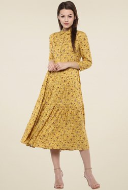 Femella Yellow Printed Dress