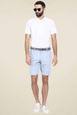 Celio* Light Blue Cotton Shorts