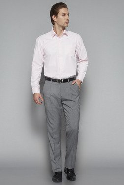 Weststreet by Westside Pink Regular Fit Shirt