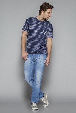 Westsport by Westside Indigo Slim Fit T Shirt