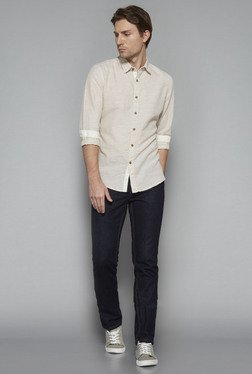 Westsport by Westside Off White Slim Fit Shirt