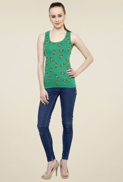 Renka Green Scoop Neck Tank Top