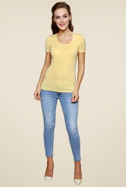 Renka Lemon Round Neck Short Sleeves Top
