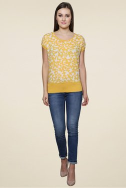 Renka Yellow Round Neck Top