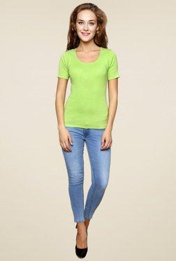 Renka Green Round Neck Top