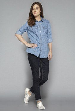 LOV By Westside Light Blue Sania Shirt