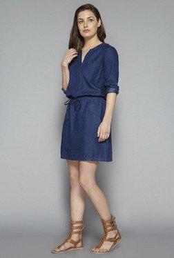 LOV By Westside Dark Blue Archer Denim Dress