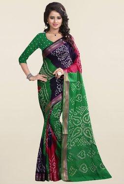 Nirja Creation Multicolor Bandhani Cotton Silk Saree