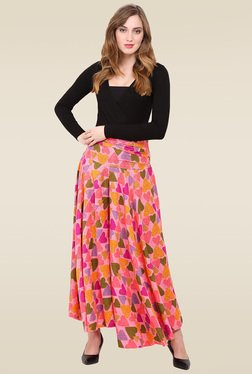 Trend Arrest Green Heart Printed Palazzo Pants