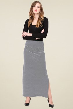 Trend Arrest Blue Cotton Maxi Skirt