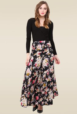 Trend Arrest Black Floral Printed Palazzo Pants