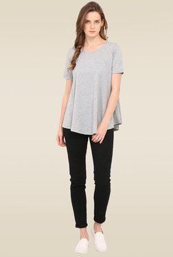 Trend Arrest Grey Short Sleeves Top
