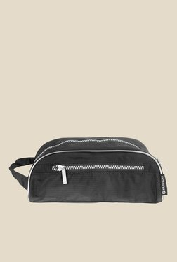 Harissons Black Polyester Textured Travel Pouch