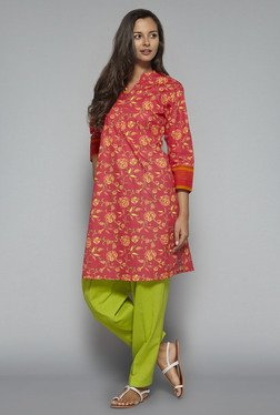 Utsa by Westside Red Floral Print Kurta