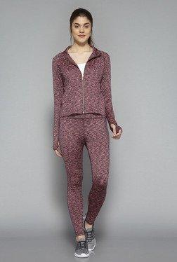 Westsport By Westside Pink Heather Knit Textured Jacket