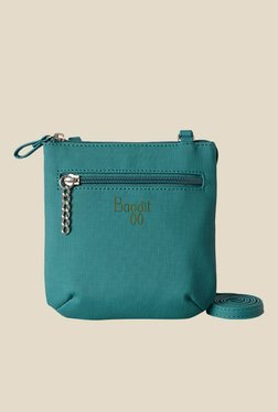 Baggit Active Charles Teal Blue Cloth Solid Sling Bag