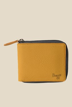 Baggit Ballerina Krispa Mango Yellow Synthetic Solid Wallet