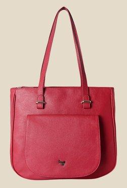 Baggit Dursley Tarzen Pink Synthetic Solid Tote Shoulder Bag
