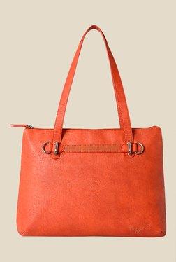 Baggit Bluebell Gland Orange Solid Tote Shoulder Bag