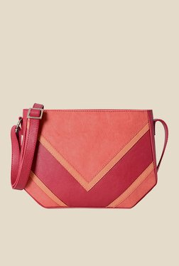 Baggit Regan Tarzen Pink Synthetic Solid Sling Bag
