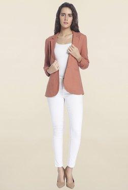 Vero Moda Rust Linen Blazer