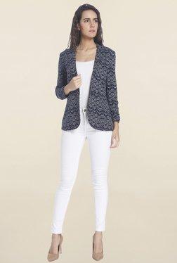 Vero Moda Navy Linen Blazer