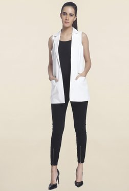 Vero Moda White Solid Blazer - Mp000000001092291
