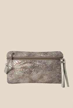 Baggit Cervo Julia Metallic Textured Clutch