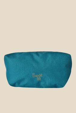 Baggit Collap Sasha Teal Blue Solid Pouch