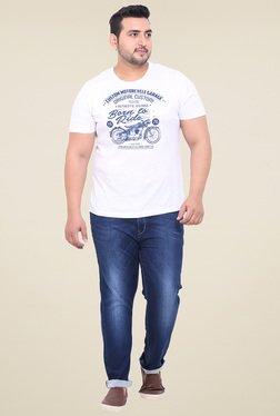 John Pride Dark Blue Regular Fit Mid Rise Jeans
