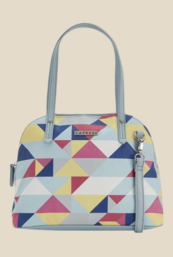 Caprese Paula Pale Blue Printed Shoulder Bag
