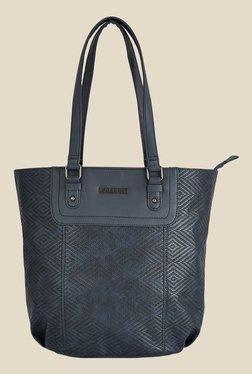 Caprese Lilia Navy Textured Tote Shoulder Bag