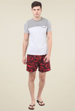 Mode Vetements Red Printed Cotton Boxers