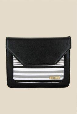 Horra Black Striped Sling Bag