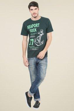 Mode Vetements Dark Green Round Neck T-shirt