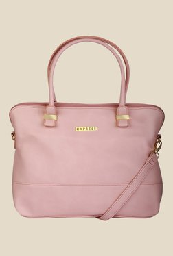 Caprese Lisa Light Pink Solid Shoulder Bag