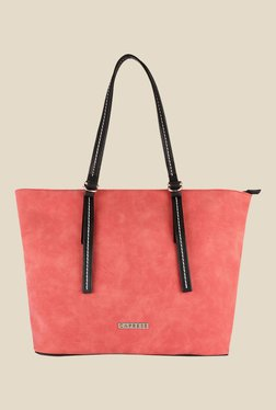 Caprese Delphy Brick Red Solid Tote Shoulder Bag