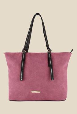 Caprese Delphy Garnet Solid Tote Shoulder Bag