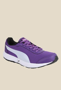 Puma Reef DP Purple & Silver Running Shoes