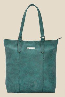 Caprese Prunela Emerald Green Solid Tote Shoulder Bag