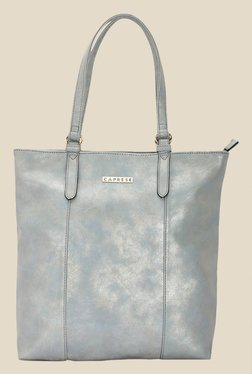 Caprese Prunela Sky Blue Solid Tote Shoulder Bag