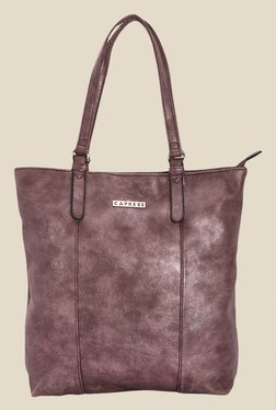 Caprese Prunela Metallic Solid Tote Shoulder Bag