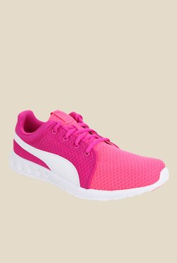 Puma Carson Runner 400 Pink & White Running Shoes